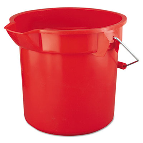 RubbermaidA BRUTE Round Utility Pail, 14qt, Red (RCP 2614 RED)