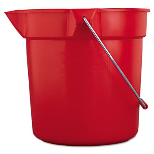 RubbermaidA BRUTE Round Utility Pail, 10qt, Red (RCP 2963 RED)