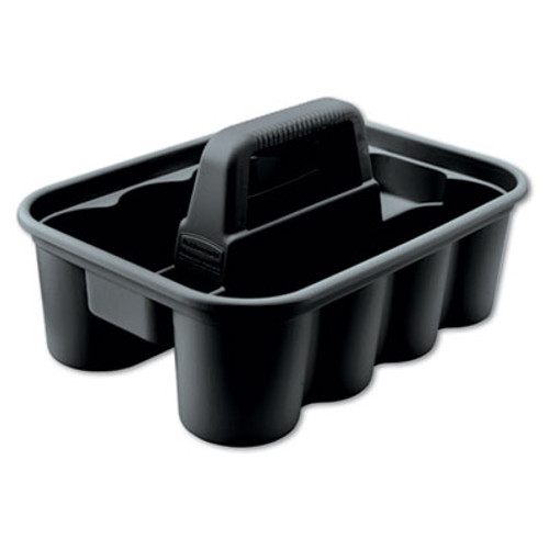 Rubbermaid Commercial Deluxe Carry Caddy, 8-Comp, 15w x 7 2/5h, Black (RCP 3154-88 BLA)