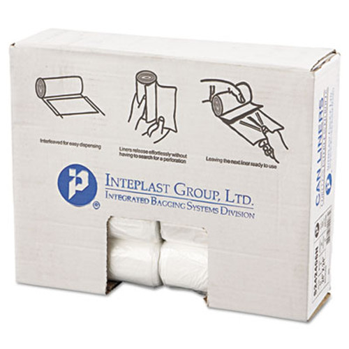 Inteplast Group High-Density Can Liner, 24 x 24, 10gal, 6mic, Natural, 50/Roll, 20 Roll/Carton (IBS S242406N)