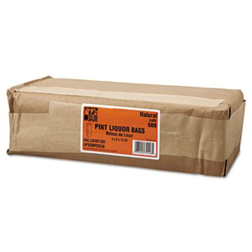 General Pint Paper Liquor Bag, 35lb Kraft, Standard 3 3/4 x 2 1/4 x 11 1/4, 500 bags (BAG LQPINT-500)