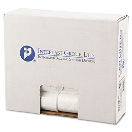 Inteplast Group Low-Density Can Liner, 24 x 24, 10gal, .35mil, Clear, 50/Roll, 20 Rolls/Carton (IBS SL2424LTN)