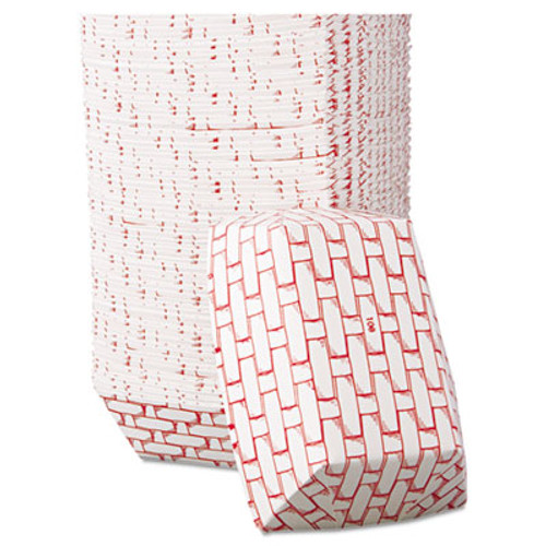 Boardwalk Paper Food Baskets, 16oz Capacity, Red/White, 1000/Carton (BWK 30LAG100)