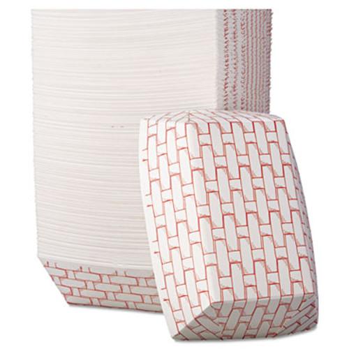 Boardwalk Paper Food Baskets, 2lb Capacity, Red/White, 1000/Carton (BWK 30LAG200)