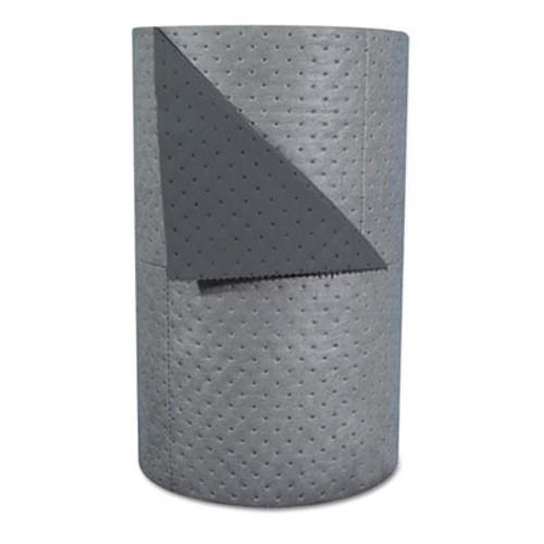 "SPC High-Traffic Series Sorbent-Pad Roll, 63gal, 30"" x 300ft, Gray, 100/Pack (SBD HT303)"