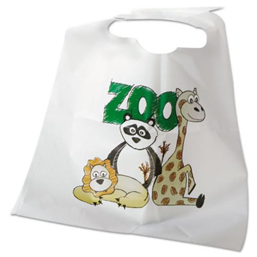 Atlantis Plastics Disposable Child-Size Poly Bibs, Zoo/Farm Pattern, Children's, 250/Carton (ATL 2BBCZF)