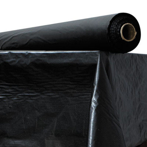 "Atlantis Plastics Plastic Table Cover, 40"" x 300 ft Roll, Black (ATL 2TCBK300)"