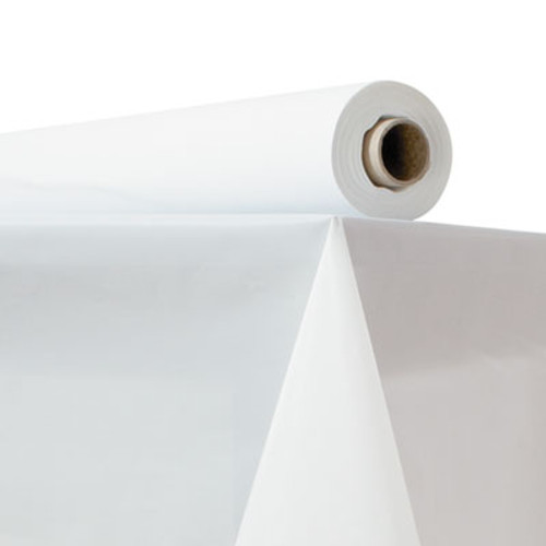 "Atlantis Plastics Plastic Table Cover, 40"" x 150 ft Roll, White (ATL 2TCW150)"