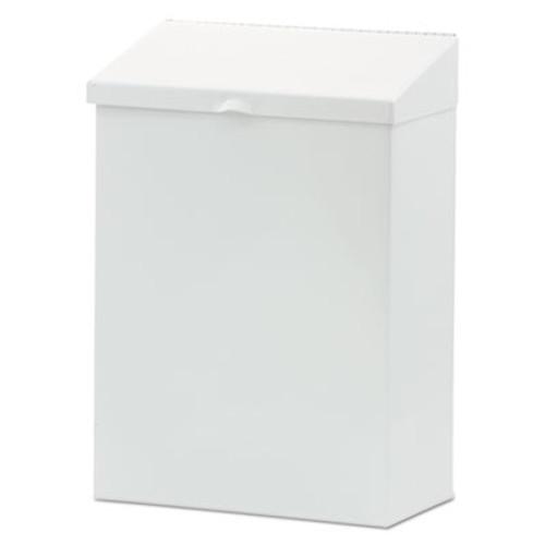 Hospital Specialty Co. Feminine Hygiene Waste Receptacle, 8 1/4w x 4 1/2d x 11 5/8h, Metal, White (HOS ND-1W)