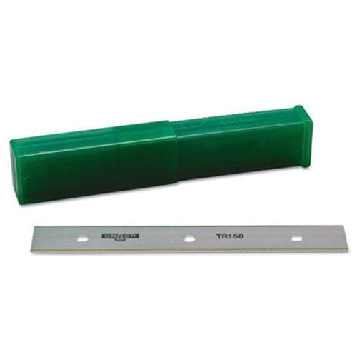 """Unger ErgoTec Glass Scraper Replacement Blades, 6"""" Double-Edge, 25/Pack (UNG TR15)"""
