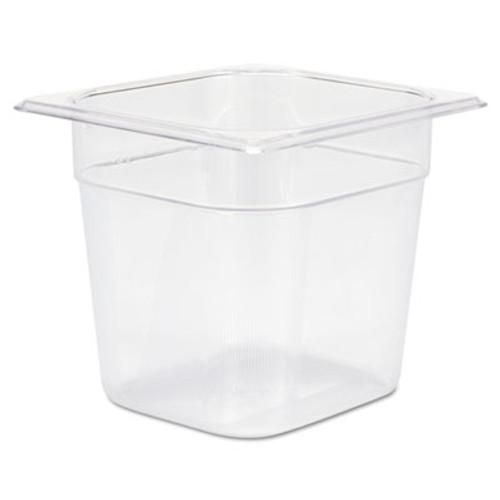 Rubbermaid Commercial Cold Food Pans, 2 1/2qt, 6 3/8w x 6 7/8d x 6h, Clear (RCP 106P CLE)