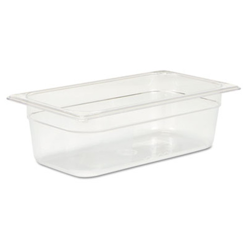 Rubbermaid Commercial Cold Food Pans, 4qt, 6 7/8w x 12 4/5d x 4h, Clear (RCP 117P CLE)