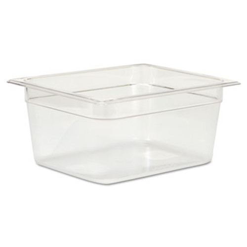 Rubbermaid Commercial Cold Food Pans, 9 1/3qt, 10 3/8w x 12 4/5d x 6h, Clear (RCP 125P CLE)