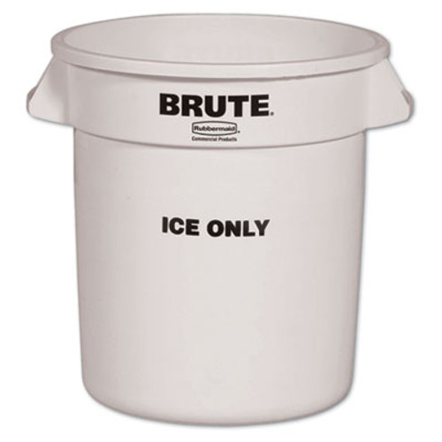 RubbermaidA Brute Ice-Only Container, 10gal, White (RCP 9F86 WHI)