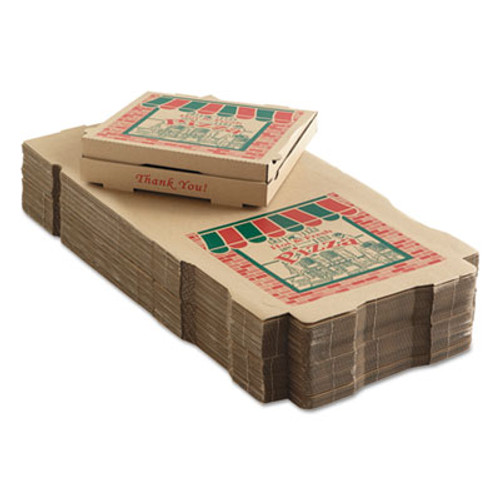 ARVCO Corrugated Pizza Boxes, 14w x 14d x 1 3/4h, Kraft (ARV 9144314)