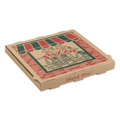 ARVCO Corrugated Pizza Boxes, 10w x 10d x 1 3/4h, Kraft, 50/Carton (ARV 9104314)
