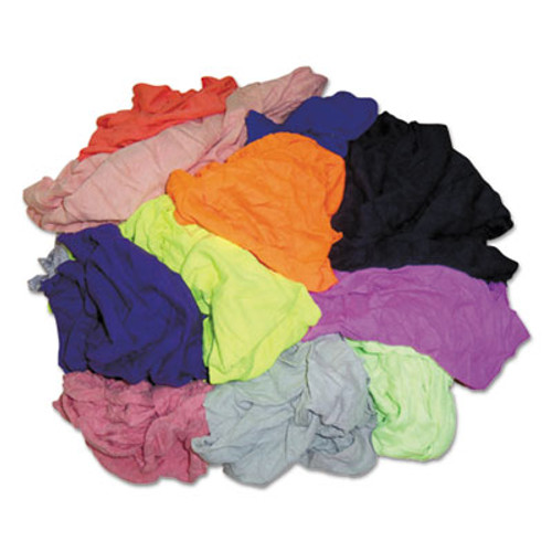 Hospital Specialty Co. Colored T-Shirt Rags, Multicolored, Multi-Fabric,10 lb Polybag (HOS 245-10BP)