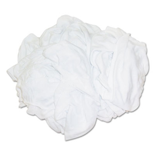 Hospital Specialty Co. Bleached White T-Shirt Rags, Multi-Fabric, 25 lb Polybag (HOS 455-25BP)