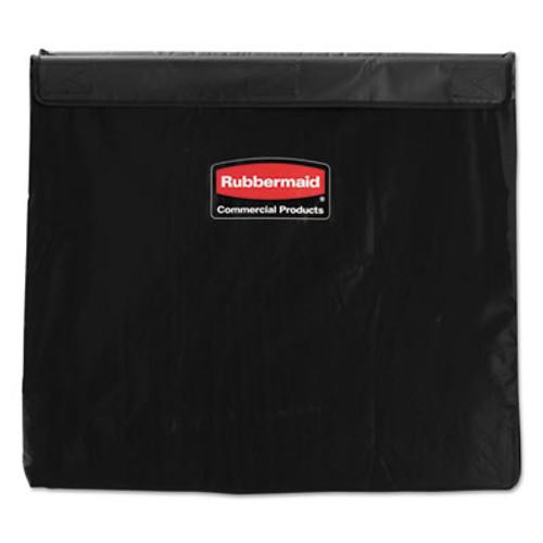 Rubbermaid Commercial Collapsible X-Cart Replacement Bag, 8 Bushel, 220 Lbs, Vinyl, Black (RCP 1881783)