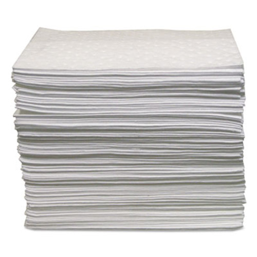 Anchor Brand Oil-Only Sorbent Pads, Gray, 15 x 17, 100/Bundle (ANR AB-BPO500)