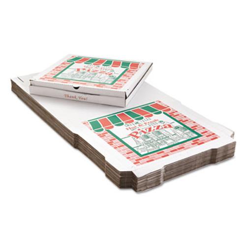 ARVCO Corrugated Pizza Boxes, 24w x 24d, White, 25/Carton (ARV 9244393)