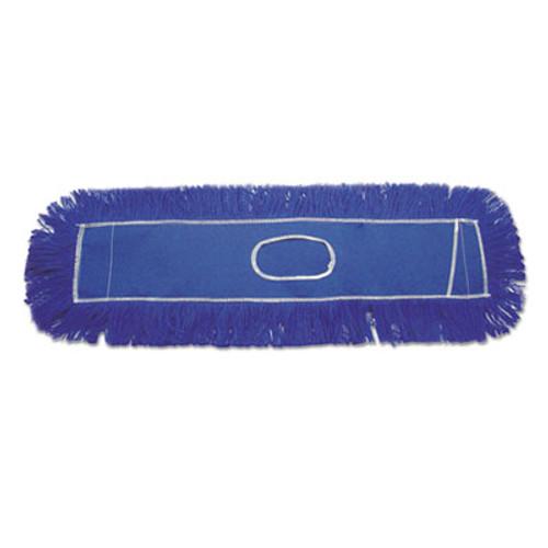 Boardwalk Clinger Dust Mop Head, Nylon, 36 x 5, Blue, 12/Carton (UNS CL365BSP)