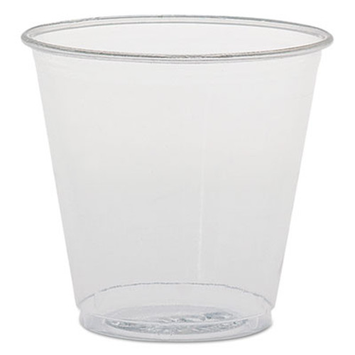 SOLO Cup Company Plastic Sampling Cups, 3.5 oz, Clear, Polystyrene, 100/Bag, 25 Bags/Carton (SCC TK35)