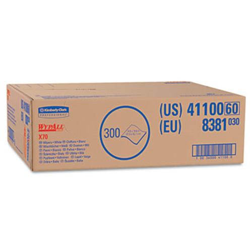 WypAll* X70 Wipers, Flat Sheet, 9 x 16 3/5, White, 300/Carton (KCC 41100)