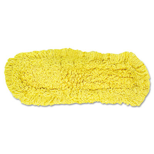 "Rubbermaid Commercial Trapper Commercial Dust Mop, Looped-end Launderable, 5"" x 18"", Yellow (RCP J152)"