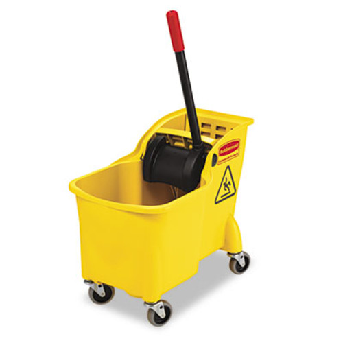 RubbermaidA Tandem 31qt Bucket/Wringer Combo, Yellow (RCP 7380 YEL)