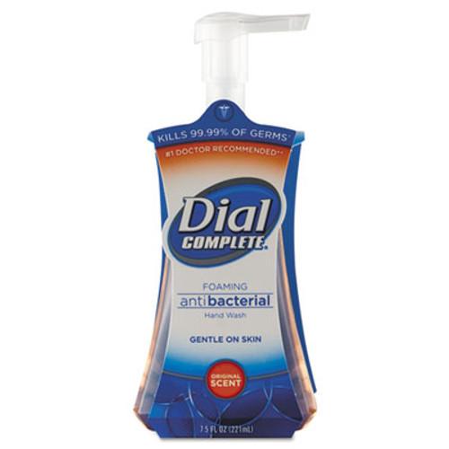 Dial Antibacterial Foaming Hand Wash, Original Scent, 7.5oz Pump Bottle, 8/Carton (DIA 02936)