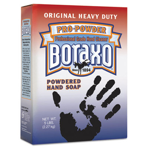 Boraxo Powdered Original Hand Soap, Unscented Powder, 5lb Box, 10/Carton (DIA 02203)