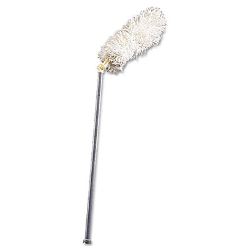 """Rubbermaid Commercial HiDuster Dusting Tool with Angled Lauderable Head, 51"""" Extension Handle (RCP T120)"""