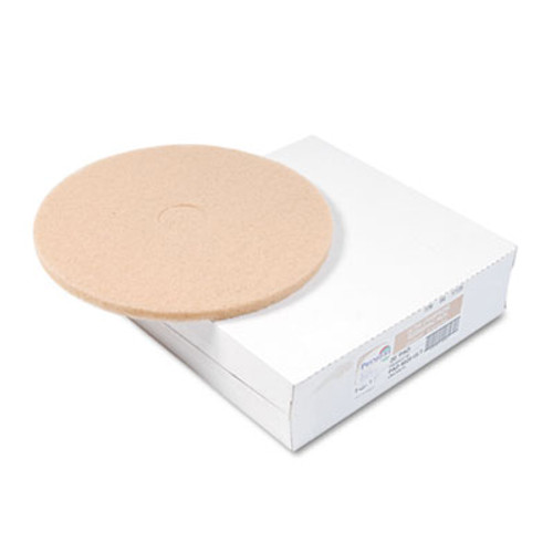 "Boardwalk Ultra High-Speed Floor Pads, Ultra Champagne, 20"" Diameter, 5/Carton (PAD 4020 ULT)"