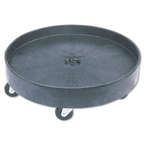 Rubbermaid Commercial Brute Container Universal Drum Dolly, 500lb, Black (RCP 2650 BLA)