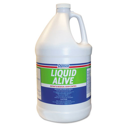 Dymon LIQUID ALIVE Odor Digester, 1gal Bottle, 4/Carton (DYM 33601)