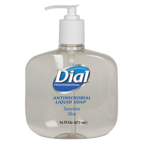 DialA Antimicrobial Soap for Sensitive Skin, 16oz Pump Bottle, 12/Carton (DIA 80784)