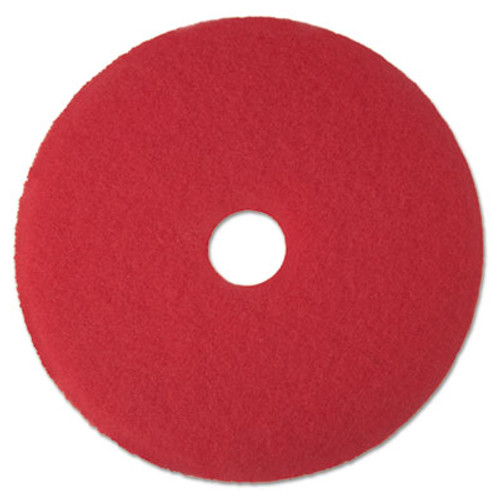 "3M Low-Speed Buffer Floor Pads 5100, 17"" Diameter, Red, 5/Carton (MCO 08392)"