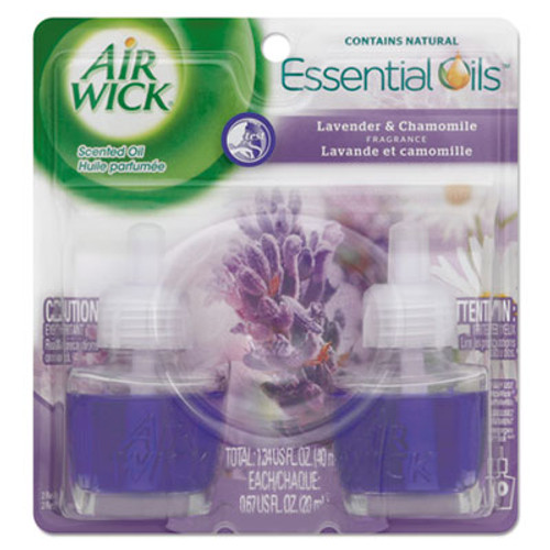 Air Wick Scented Oil Refill, Lavender & Chamomile, 0.67oz, 2/Pack (REC 78473)