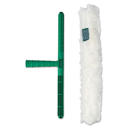 Unger Original Strip Washer with Green Nylon Handle, White Cloth Sleeve, 18 Inches (UNG WC450)