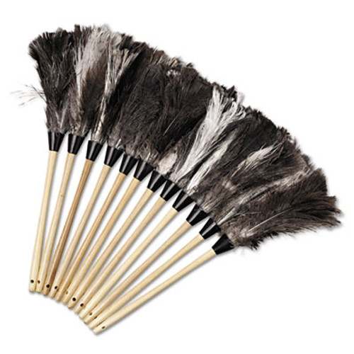"Boardwalk Professional Ostrich Feather Duster, 13"" Handle (UNS 23FD)"