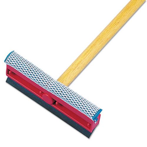"Boardwalk General-Duty Squeegee, 8"" Sponge/Rubber Blade, Black/Red, 21"" Metal Handle (UNS 824)"