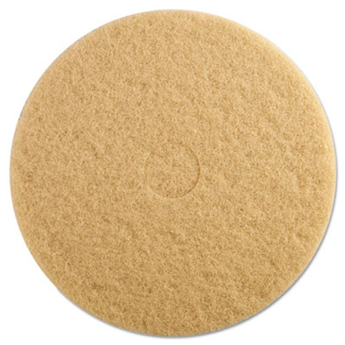 Boardwalk Ultra High-Speed Floor Pads, 19-Inch Diameter, Champagne, 5/Carton (PAD 4019 ULT)