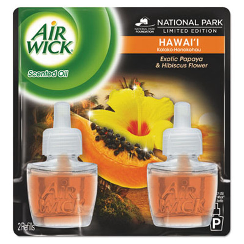 Air Wick Scented Oil Twin Refill, Hawaiian Tropical Sunset, 0.67oz Bottle (REC 85175)