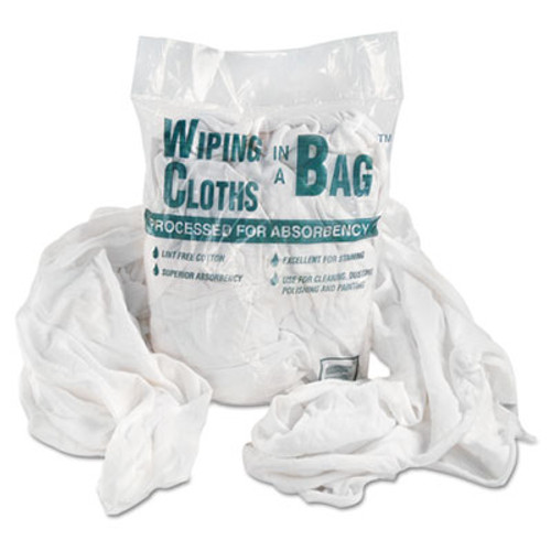 General Supply Multipurpose Reusable Wiping Cloths, Cotton, White, 5lb Box (UNS N205CW05)