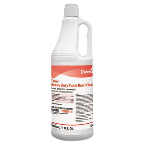 Diversey Crew Heavy Duty Toilet Bowl Cleaner, Minty, 32 oz Squeeze Bottle, 12/Carton (DVO 04560)