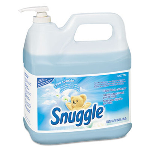 Snuggle Liquid Fabric Softener, Blue Sparkle, Floral Scent, 2 gal Bottle, 2/Carton (DVO 5777724)