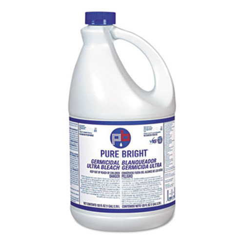 Pure Bright Liquid Bleach, 1gal Bottle, 3/Carton (KIK BLEACH3)
