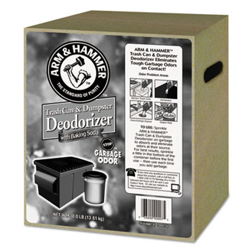 Arm & Hammer Trash Can & Dumpster Deodorizer, Unscented, Powder, 30 lb (CDC 33200-00007)