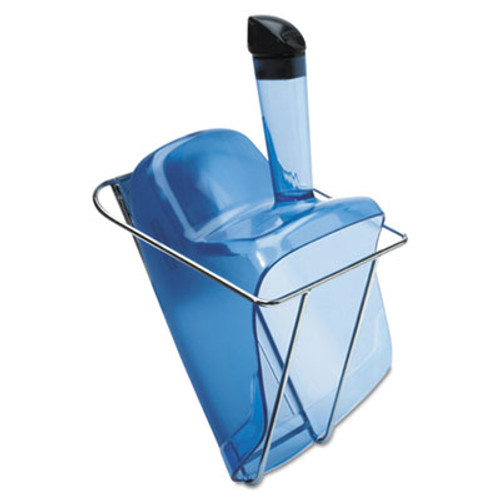 Rubbermaid Commercial Hand-Guard Scoop with Holder, 74oz, Transparent Blue (RCP 9F51 TBLU)